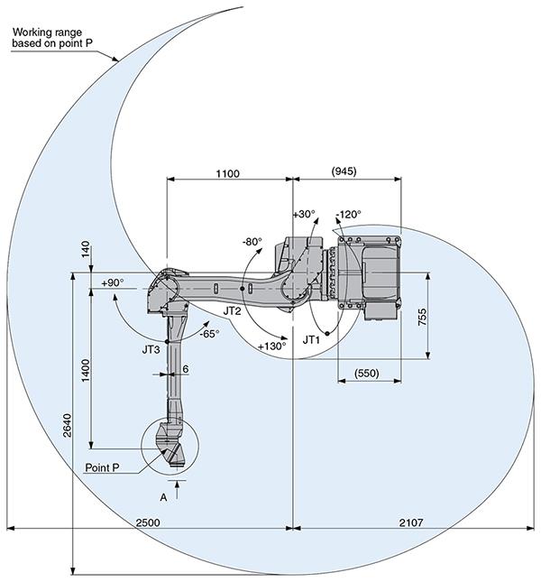Промышленный робот Kawasaki KJ264 Wall-2