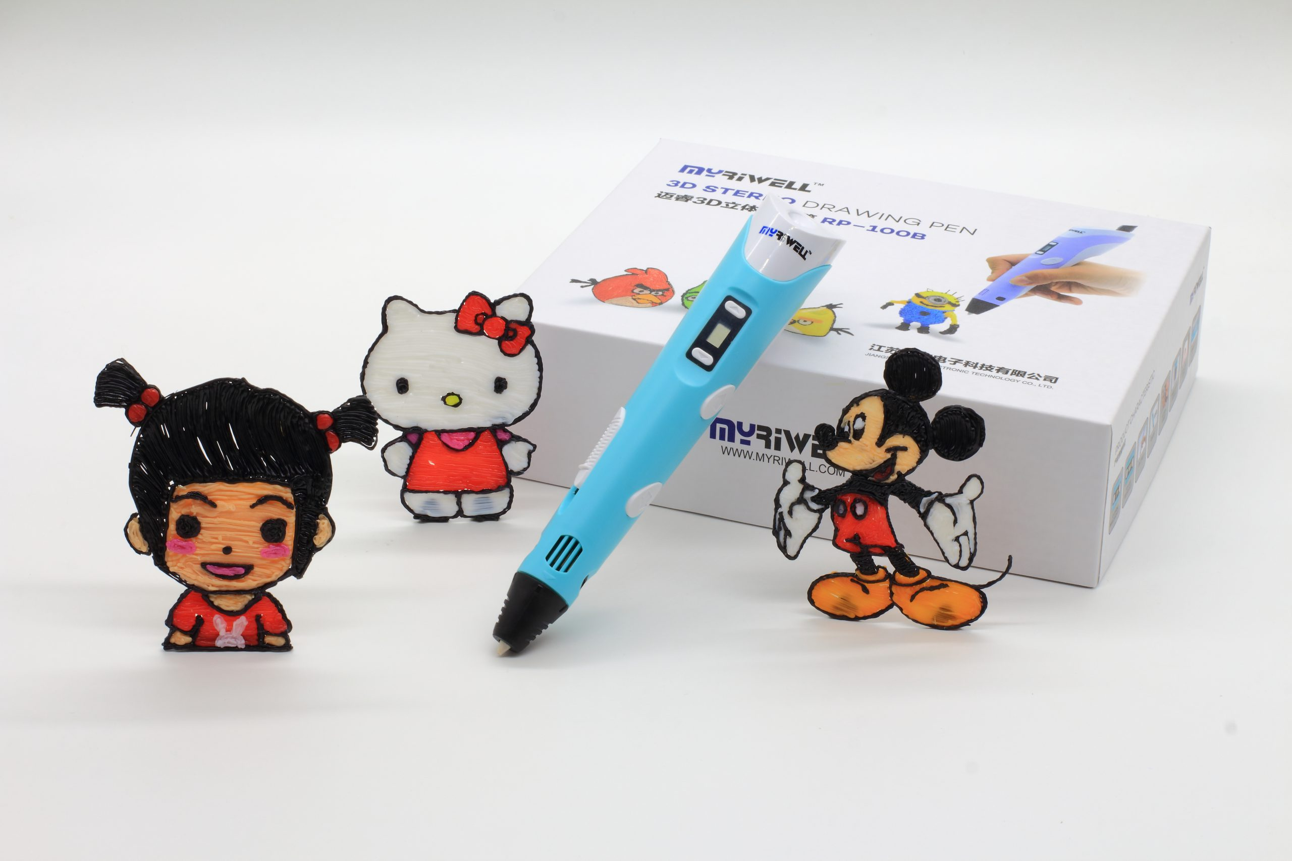 3D ручка Myriwell RP100B c LCD дисплеем-7