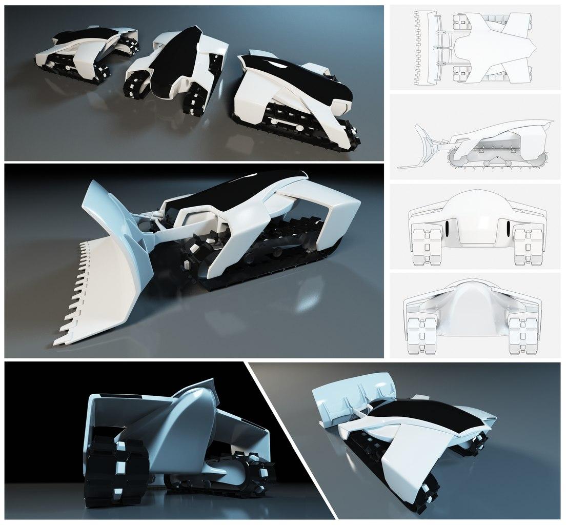 Робот снегоуборщик (SnowBot)-2