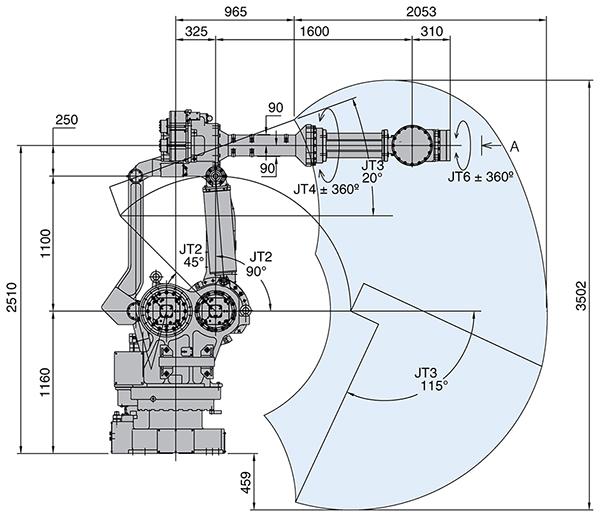 Промышленный робот Kawasaki MX350L-2