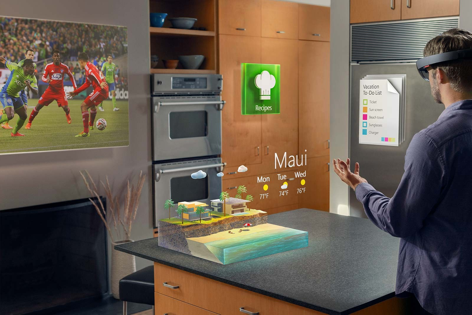 Очки виртуальной реальности Microsoft Hololens-3