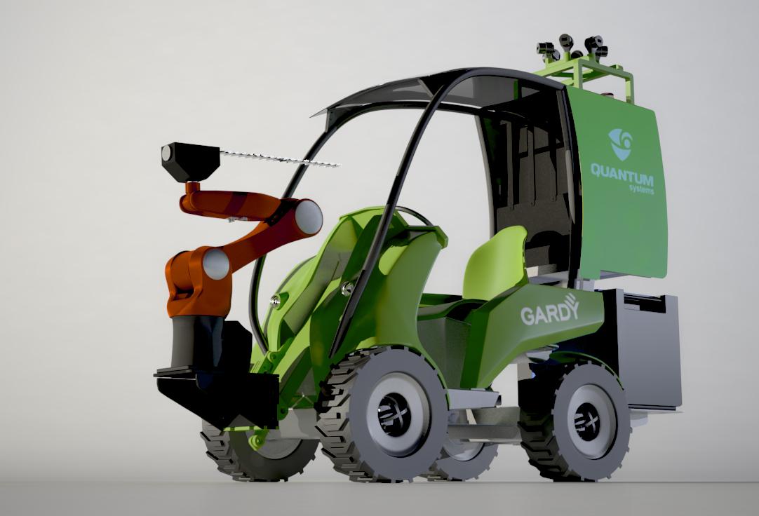 Робот-манипулятор для стрижки зеленых насаждений GardyTM-1
