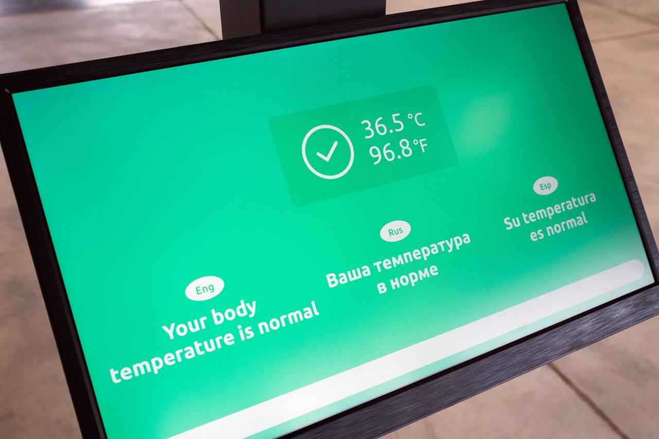 Автономный терминал для измерения температуры для снижения риска распространения COVID-19-3