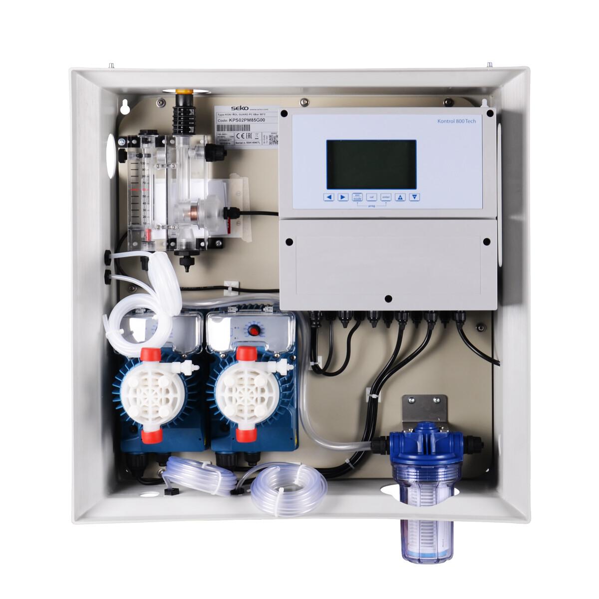 Панель управления дозацией AquaViva PH+Free Cl 5л/ч + Ячейка + 2 насоса-4