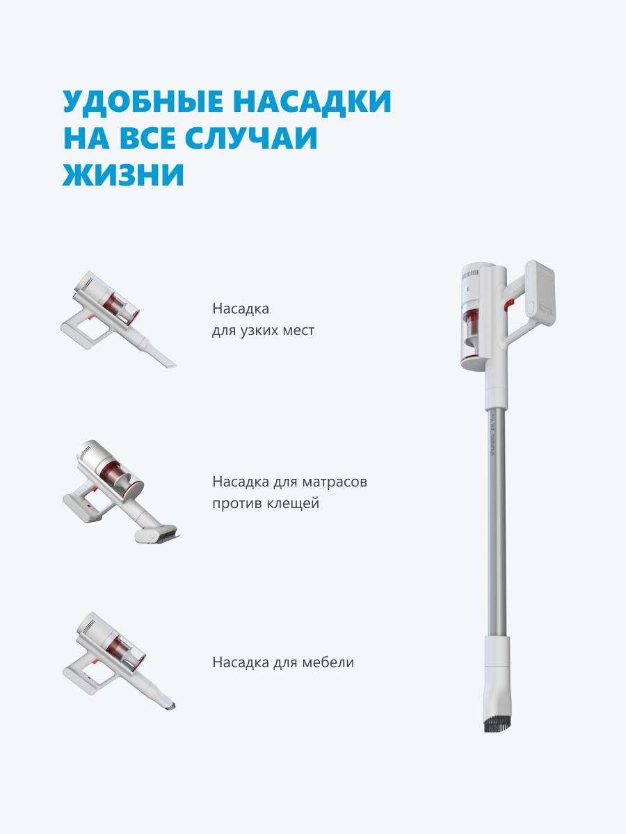 Беспроводной пылесос Xiaomi Shunzao Z11 Pro белый, русская версия-4