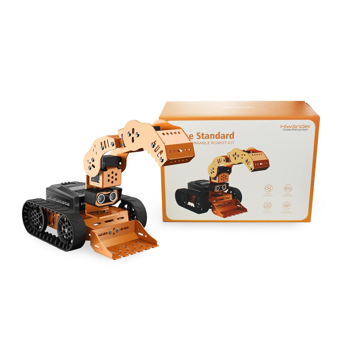Гусеничный робот Конструктор для сборки механических моделей с камерой технического зрения и ковшом. Расширенная версия.