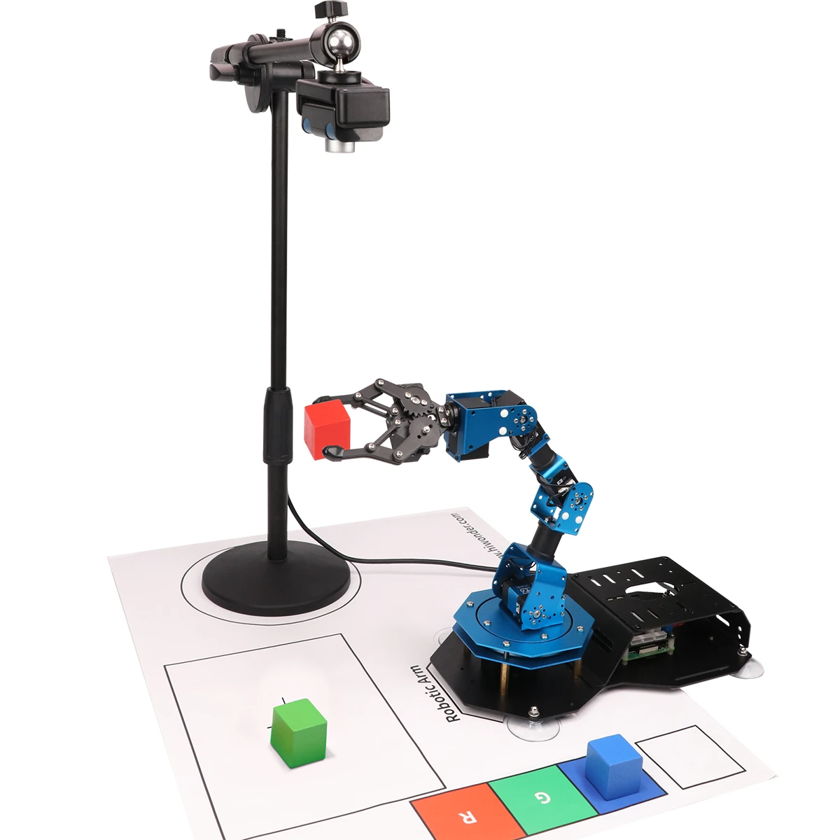 Роботизированный манипулятор с камерой технического зрения